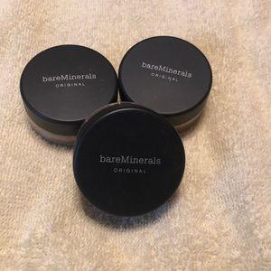 3 Bare minerals tan foundation